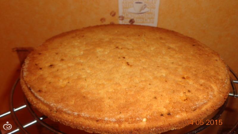 """Торт """"Птичье молоко"""" с клубникой – Шаг 5"""